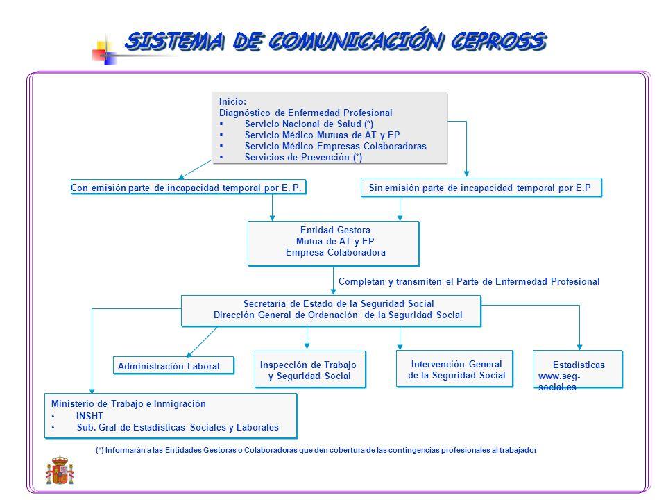 SISTEMA AUTOMÁTICO DE RECOGIDA DE LA INFORMACIÓN DE ENFERMEDADES PROFESIONALES Inicialmente se incorporan datos del trabajador, de la empresa, datos m