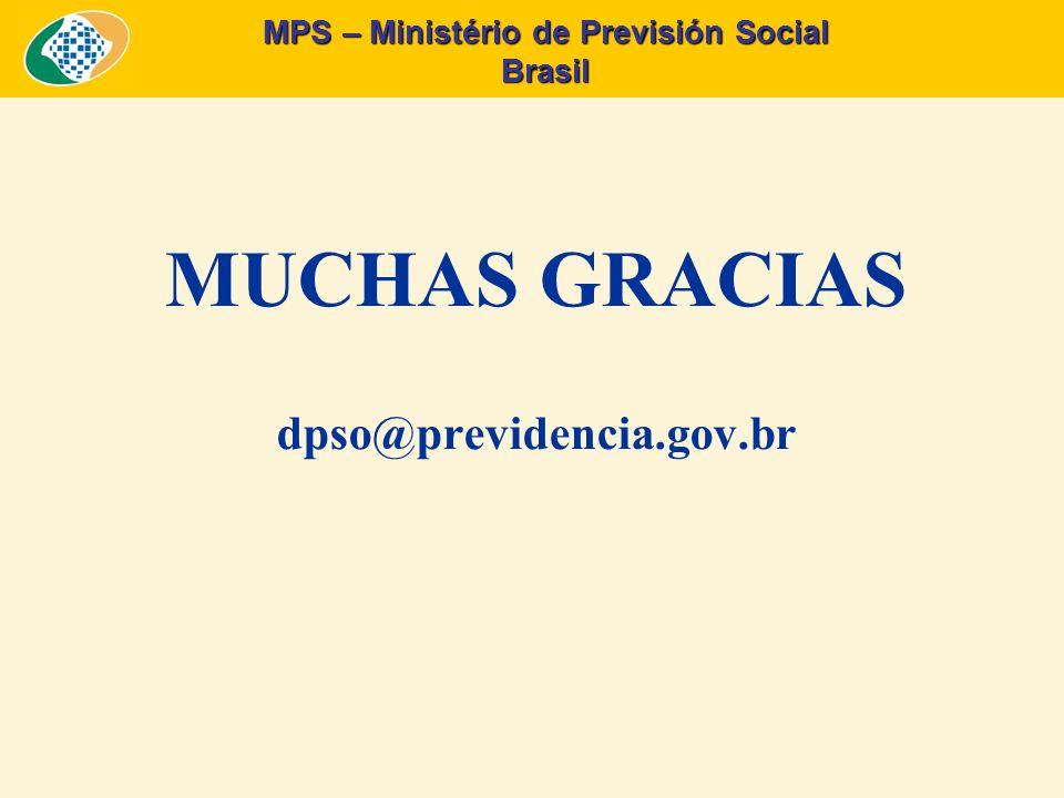 Brasil MUCHAS GRACIAS dpso@previdencia.gov.br