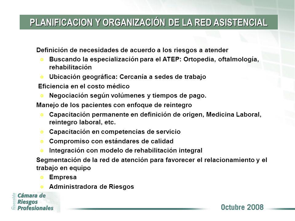 Definición de necesidades de acuerdo a los riesgos a atender Y Buscando la especialización para el ATEP: Ortopedia, oftalmología, rehabilitación Y Ubi