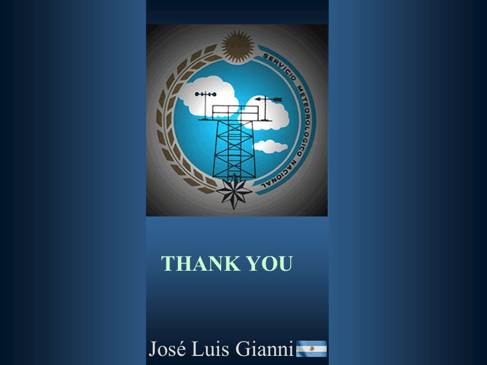 THANK YOU José Luis Gianni