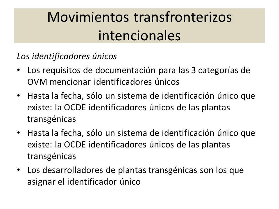 Los identificadores únicos Los requisitos de documentación para las 3 categorías de OVM mencionar identificadores únicos Hasta la fecha, sólo un siste