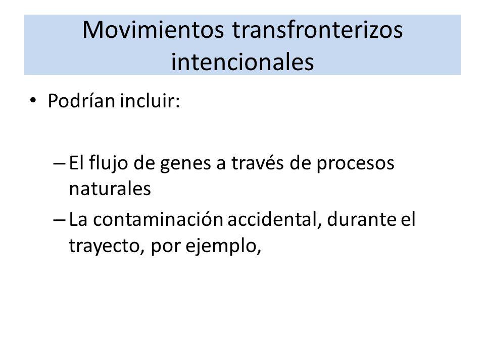 Podrían incluir: – El flujo de genes a través de procesos naturales – La contaminación accidental, durante el trayecto, por ejemplo,