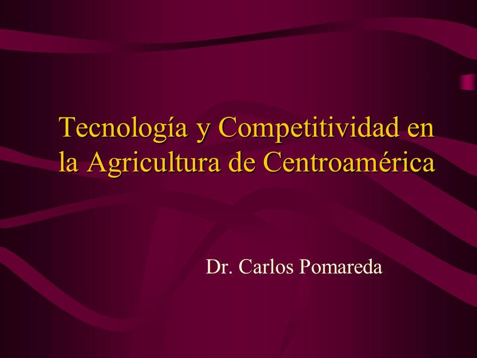 Tecnología y Competitividad en la Agricultura de Centroamérica Dr. Carlos Pomareda