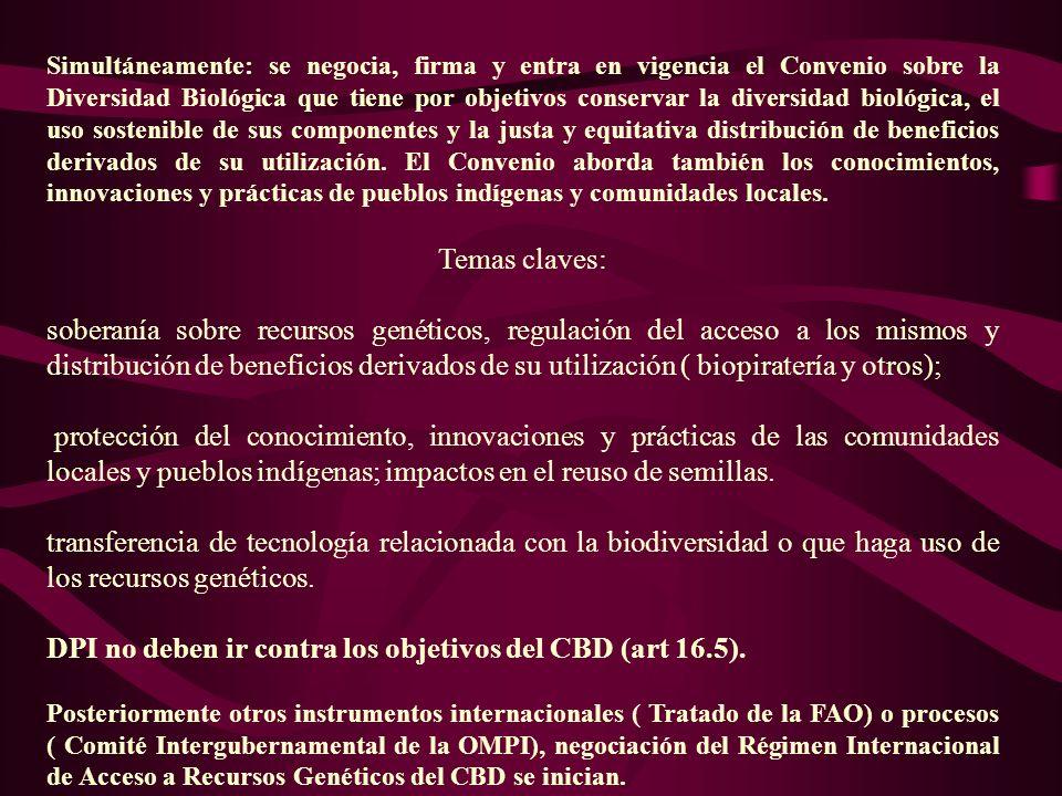 OBLIGACIONES Y FOROS INTERNACIONALES LAS NORMAS RELEVANTES DEL ADPIC Y LAS DISCUSIONES DE LA ORGANIZACIÓN MUNDIAL DEL COMERCIO.