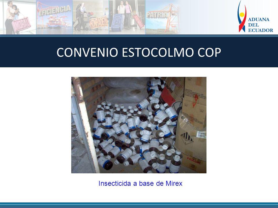 Insecticida a base de Mirex CONVENIO ESTOCOLMO COP