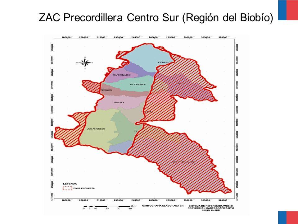 Características generales de la ZAC Precordillera Centro Sur, región del Biobío Clima mesotermal inferior estenotérmico mediterráneo subhúmedo.