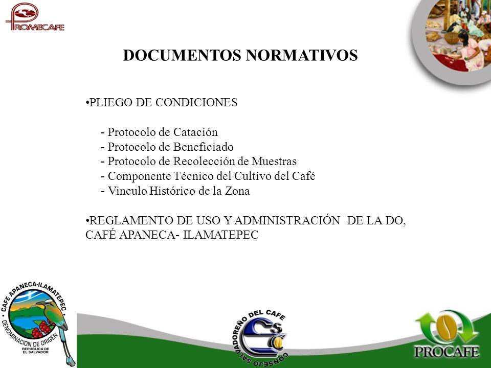 PLIEGO DE CONDICIONES - Protocolo de Catación - Protocolo de Beneficiado - Protocolo de Recolección de Muestras - Componente Técnico del Cultivo del C