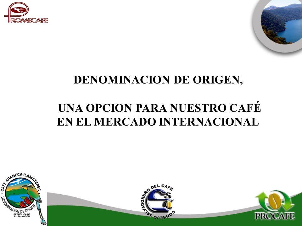 DENOMINACION DE ORIGEN, UNA OPCION PARA NUESTRO CAFÉ EN EL MERCADO INTERNACIONAL