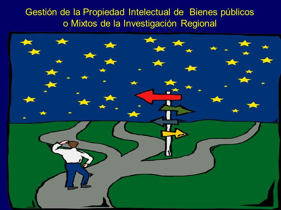 Gestión de la Propiedad Intelectual de Bienes públicos o Mixtos de la Investigación Regional