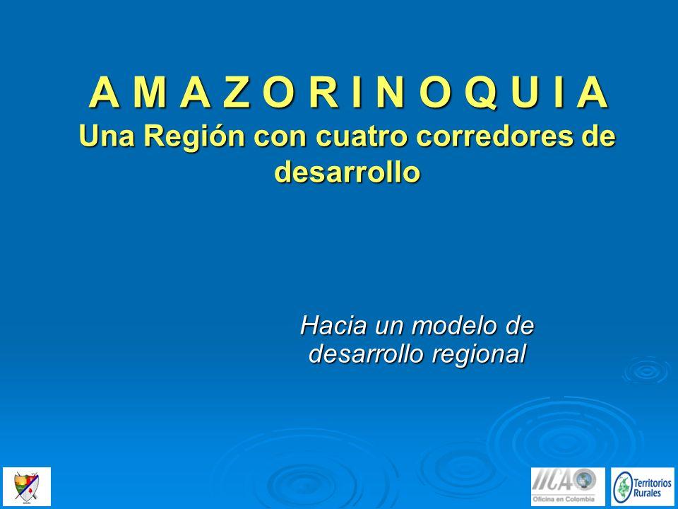 A M A Z O R I N O Q U I A Una Región con cuatro corredores de desarrollo Hacia un modelo de desarrollo regional