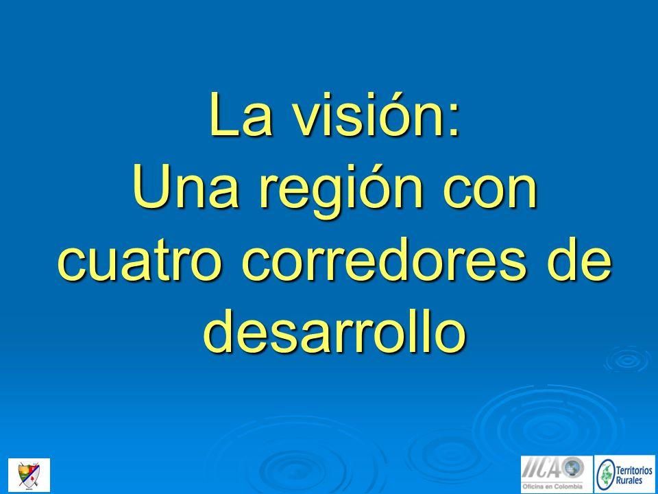 La visión: Una región con cuatro corredores de desarrollo