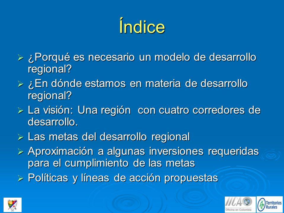 El modelo Una Región con Cuatro Corredores, tiene la ventaja de regionalizar un territorio heterogéneo, con dos grandes subregiones, Orinoco y Amazonas, y una visión funcional de la explotación y conservación de los recursos naturales.