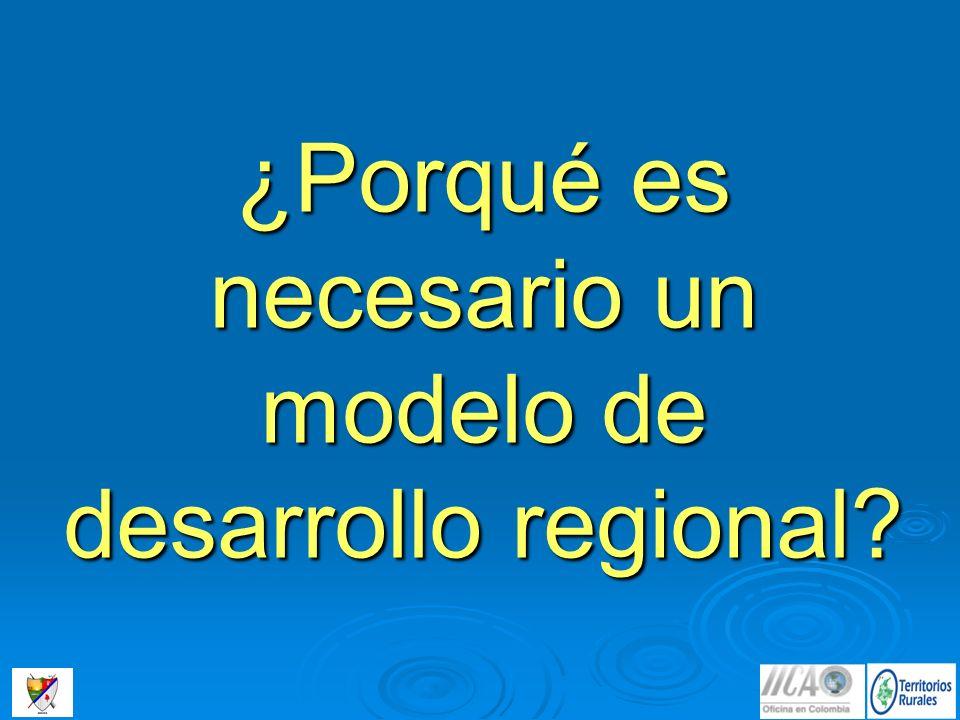 ¿Porqué es necesario un modelo de desarrollo regional?