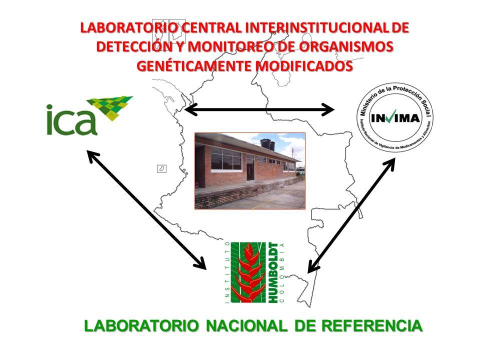 LABORATORIO CENTRAL INTERINSTITUCIONAL DE DETECCIÓN Y MONITOREO DE ORGANISMOS GENÉTICAMENTE MODIFICADOS LABORATORIO NACIONAL DE REFERENCIA