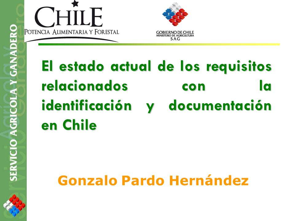 El estado actual de los requisitos relacionados con la identificación y documentación en Chile Gonzalo Pardo Hernández