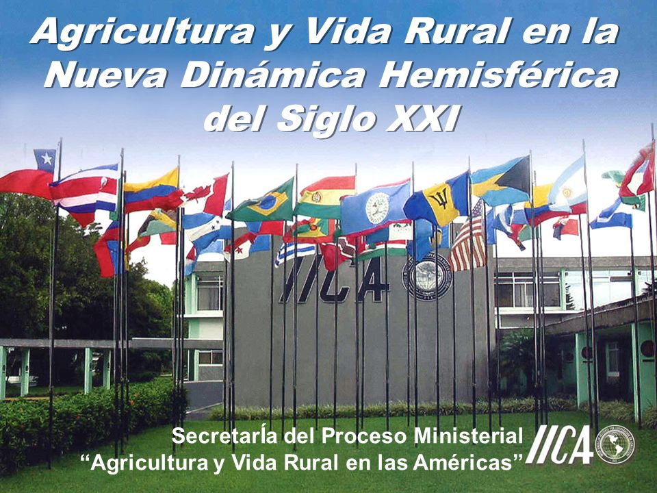 Agricultura y Vida Rural en la Nueva Dinámica Hemisférica del Siglo XXI Agricultura y Vida Rural en la Nueva Dinámica Hemisférica del Siglo XXI SecretarÍa del Proceso Ministerial Agricultura y Vida Rural en las Américas