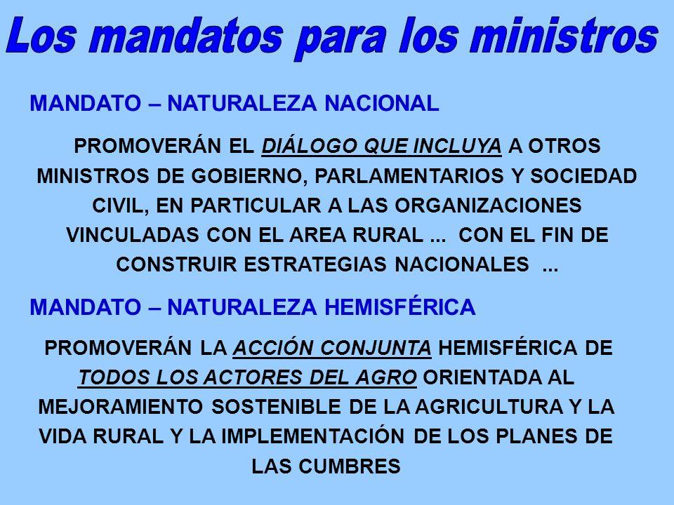 MONTERREY 2004 QUEBEC 2001 MAR DEL PLATA 2005 DELEGADOS MINISTERIALES Y GRICA GRIC DELEGADOS MINISTERIALES Y GRICA GRIC IICA Secretaría DELEGADOS MINISTERIALES Y GRICA