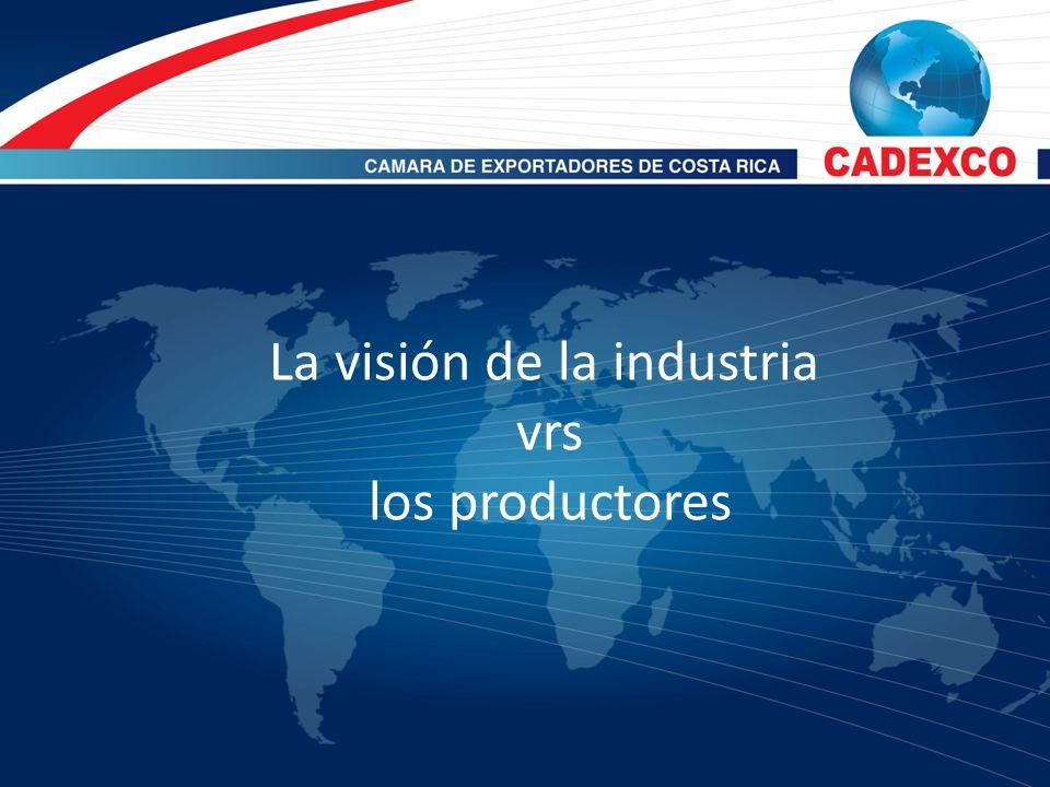 Visión de los productores / exportadores