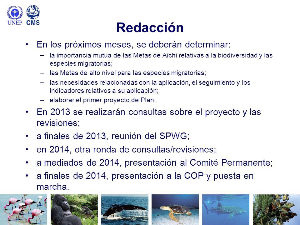 Redacción En los próximos meses, se deberán determinar: –la importancia mutua de las Metas de Aichi relativas a la biodiversidad y las especies migrat
