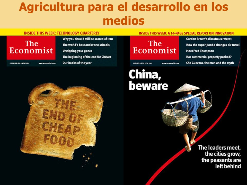 4 Agricultura para el desarrollo en los medios : porque.