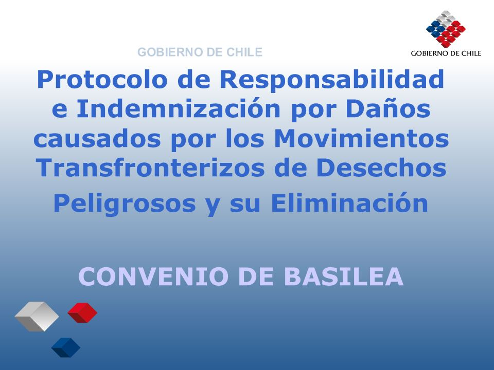 Protocolo de Responsabilidad e Indemnización por Daños causados por los Movimientos Transfronterizos de Desechos Peligrosos y su Eliminación CONVENIO