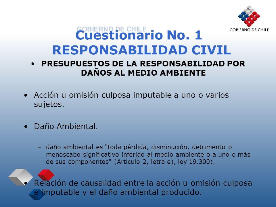 Cuestionario No.1 RESPONSABILIDAD CIVIL SISTEMA DE RESPONSABILIDAD SUBJETIVA.
