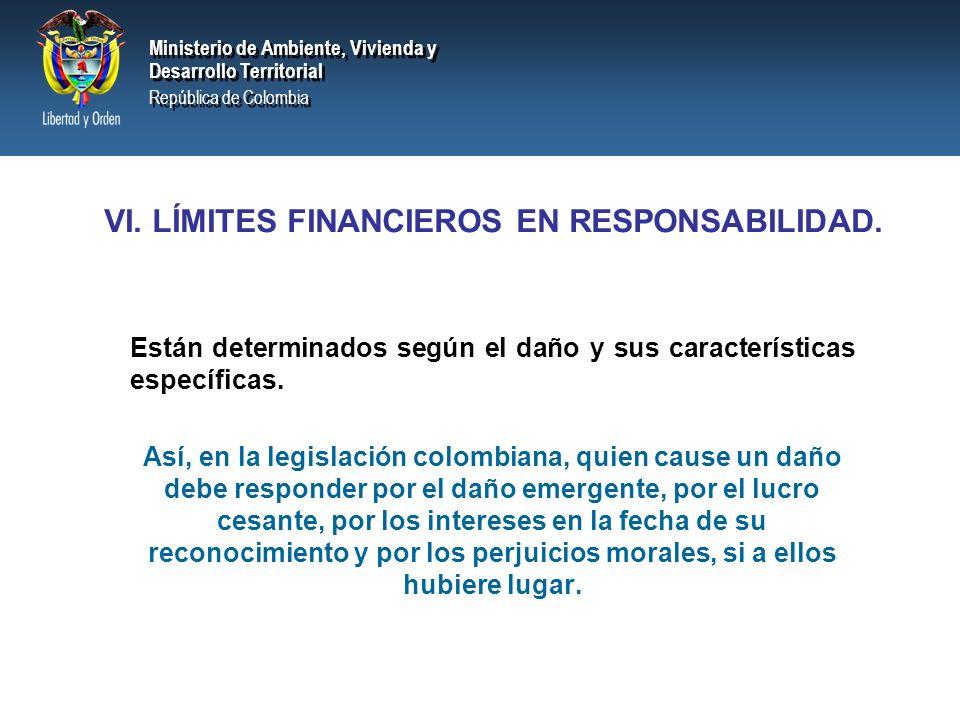 Ministerio de Ambiente, Vivienda y Desarrollo Territorial República de Colombia Ministerio de Ambiente, Vivienda y Desarrollo Territorial República de Colombia I.Responsables por daño en movimientoResponsables por daño en movimiento transfronterizo.