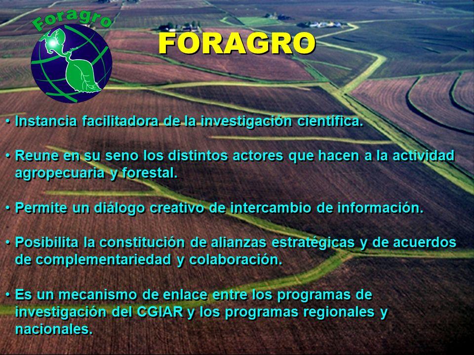 Instancia facilitadora de la investigación científica. Reune en su seno los distintos actores que hacen a la actividad agropecuaria y forestal. Permit