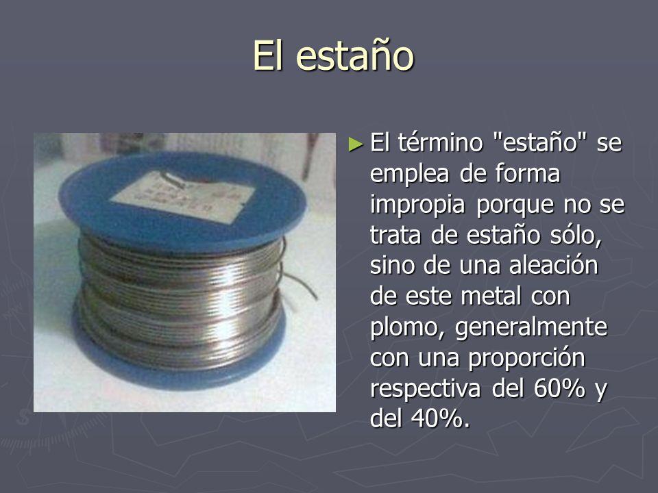 La Resina Los rollos de estaño, incorporan además una sustancia adicional, llamada pasta de soldar que forma el alma de resina del estaño.