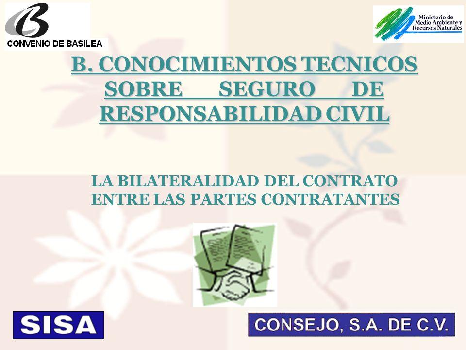 LA BILATERALIDAD DEL CONTRATO ENTRE LAS PARTES CONTRATANTES B.