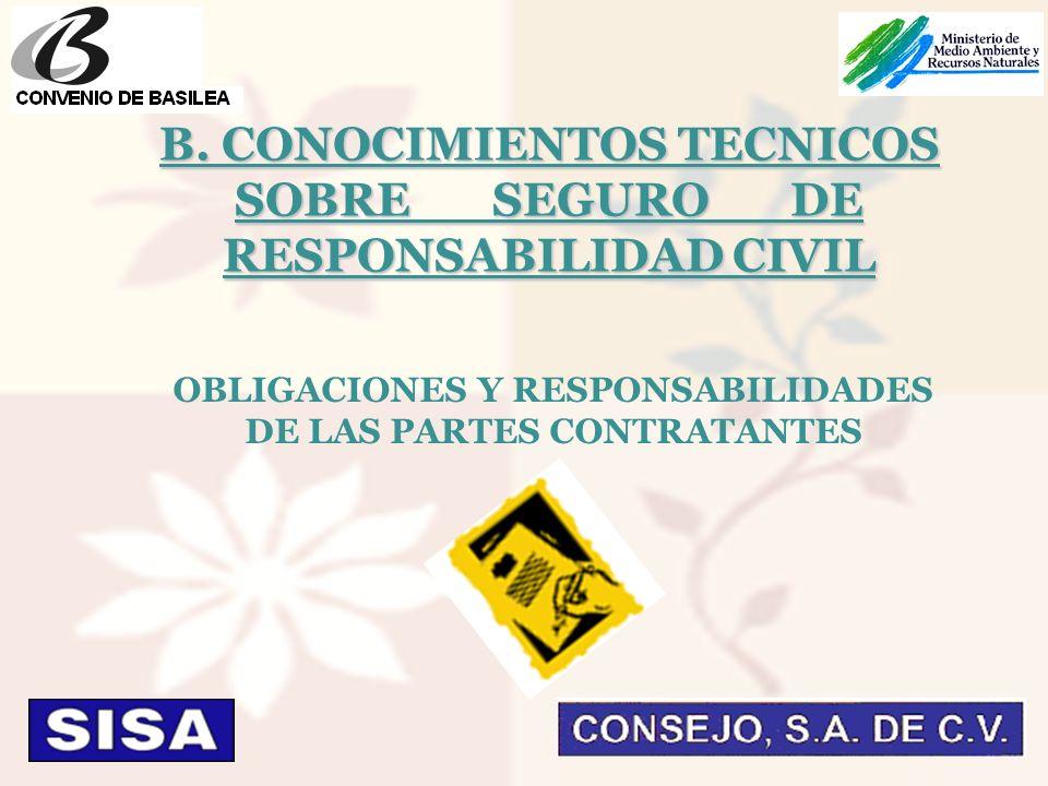 OBLIGACIONES Y RESPONSABILIDADES DE LAS PARTES CONTRATANTES B.