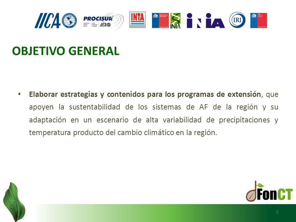 6 Mejorar el conocimiento de los productores familiares y de los servicios de extensión sobre los impactos esperados del cambio climático.