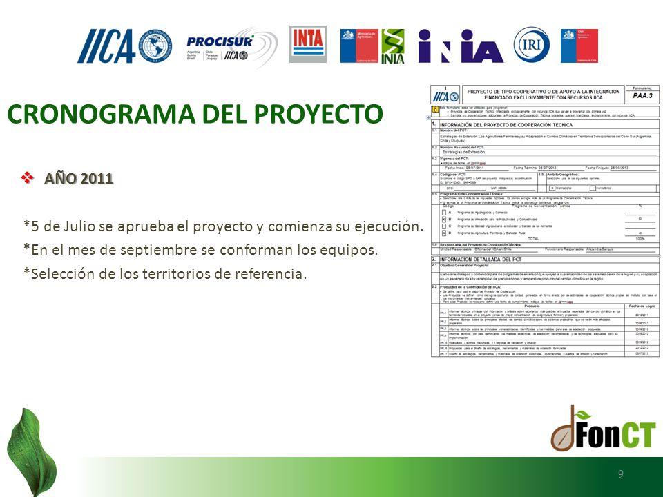 AÑO 2011 AÑO 2011 *5 de Julio se aprueba el proyecto y comienza su ejecución. *En el mes de septiembre se conforman los equipos. *Selección de los ter