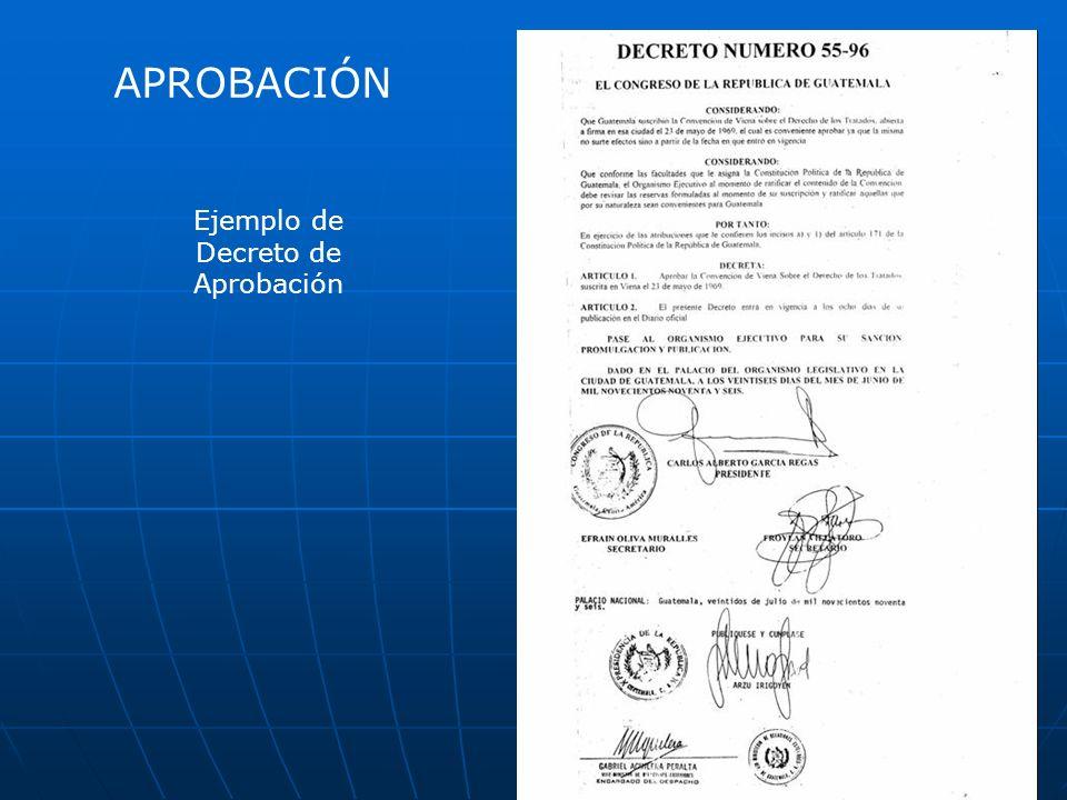 Ejemplo de Decreto de Aprobación APROBACIÓN