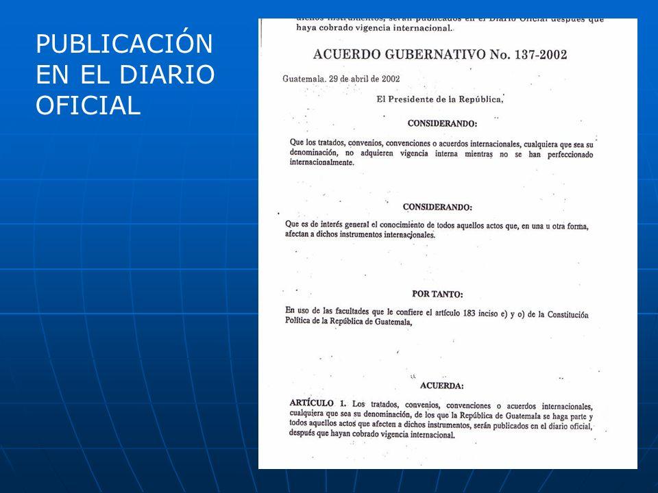 PUBLICACIÓN EN EL DIARIO OFICIAL