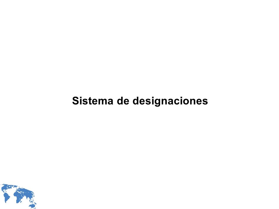 Sistema de designaciones