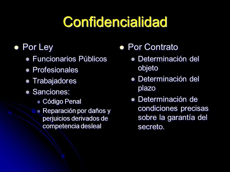 Confidencialidad Por Ley Por Ley Funcionarios Públicos Funcionarios Públicos Profesionales Profesionales Trabajadores Trabajadores Sanciones: Sancione