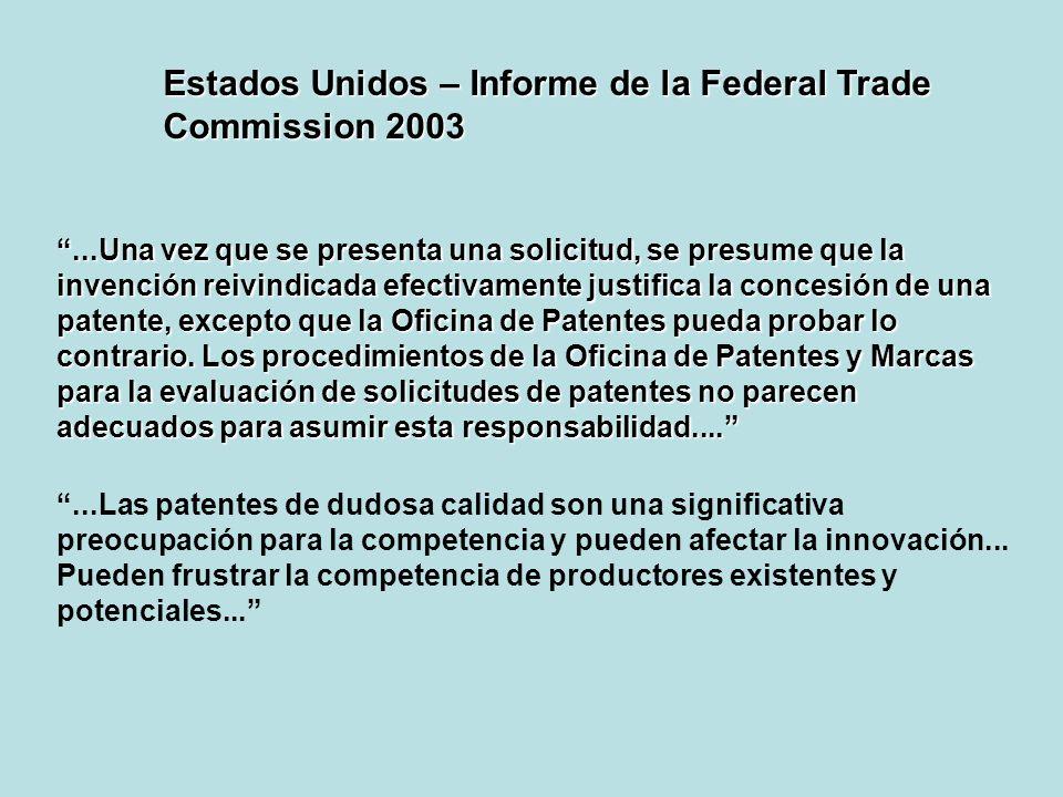 Cont......la investigación indica que ciertos medicamentos están protegidos por cerca de 100 familias de patentes que pertenecen a productos específicos, lo cual puede dar lugar a hasta 1.300 patentes y/o solicitudes de patente en trámite en todos los Países Miembros Un elevado numero de patentes y, en particular, de solicitudes de patentes en trámite (racimos de patentes), puede generar incertidumbre en los competidores genéricos –lo cual afecta su capacidad de ingresar en el mercado.[1][1] Ciertas declaraciones incluidas en documentos internos recogidos en el contexto de la investigación del sector señalan que los titulares de las patentes son conscientes de que algunas de sus patentes pueden no ser consistentes...