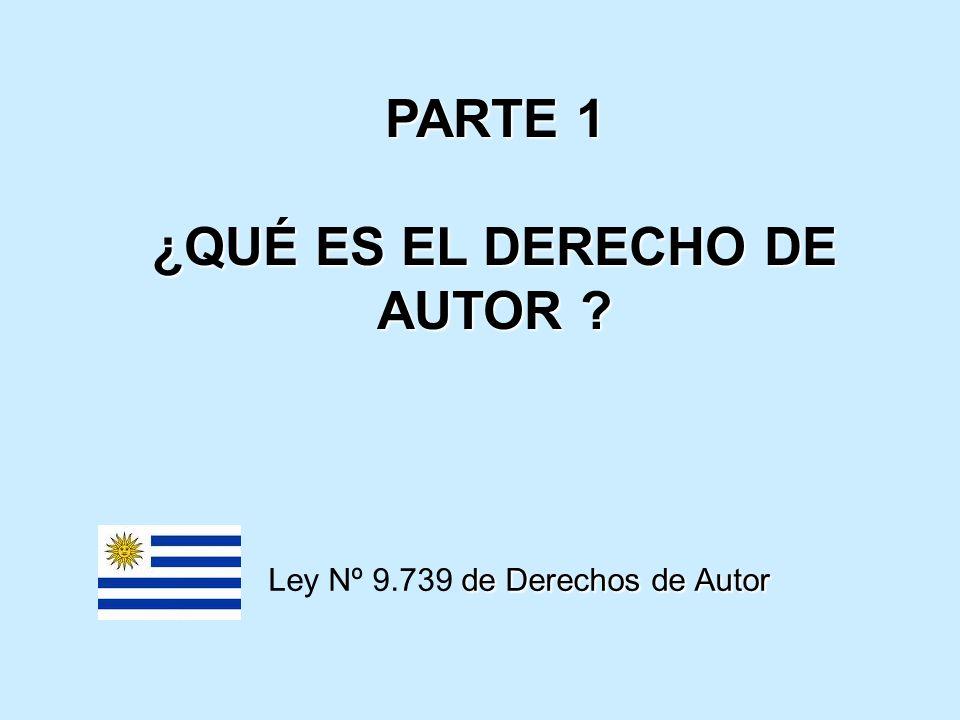 PARTE 1 ¿QUÉ ES EL DERECHO DE AUTOR ? de Derechos de Autor Ley Nº 9.739 de Derechos de Autor