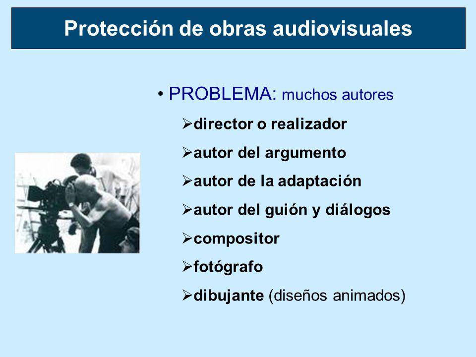 PROBLEMA: muchos autores director o realizador autor del argumento autor de la adaptación autor del guión y diálogos compositor fotógrafo dibujante (d