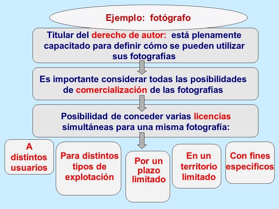 Titular del derecho de autor: está plenamente capacitado para definir cómo se pueden utilizar sus fotografías Es importante considerar todas las posib