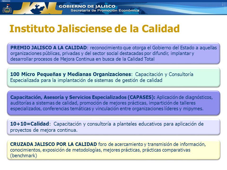 Instituto Jalisciense de la Calidad 10+10=Calidad: Capacitación y consultoría a planteles educativos para aplicación de proyectos de mejora continua.