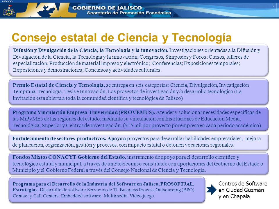 Consejo estatal de Ciencia y Tecnología Difusión y Divulgación de la Ciencia, la Tecnología y la innovación. Investigaciones orientadas a la Difusión
