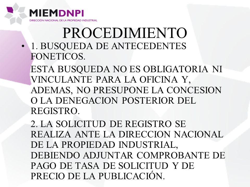 PROCEDIMIENTO 1. BUSQUEDA DE ANTECEDENTES FONETICOS.