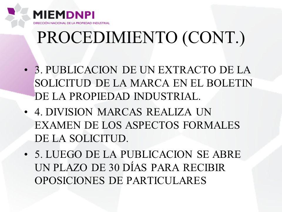 PROCEDIMIENTO (CONT.) 3.