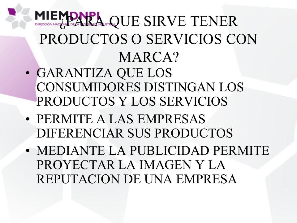 ¿PARA QUE SIRVE TENER PRODUCTOS O SERVICIOS CON MARCA.