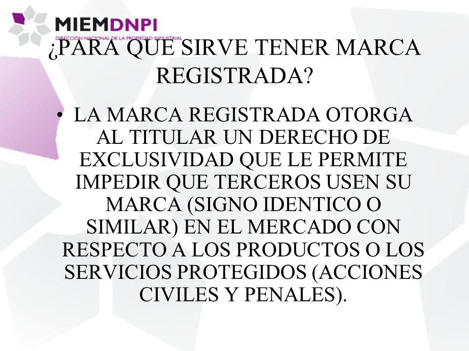 ¿PARA QUE SIRVE TENER MARCA REGISTRADA.