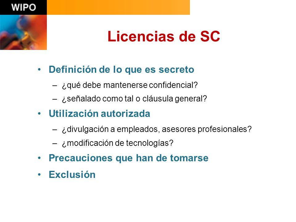 Licencias de SC Definición de lo que es secreto –¿qué debe mantenerse confidencial.