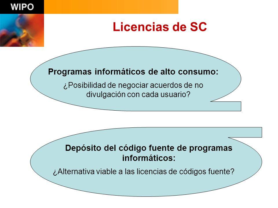 Licencias de SC Programas informáticos de alto consumo: ¿Posibilidad de negociar acuerdos de no divulgación con cada usuario.