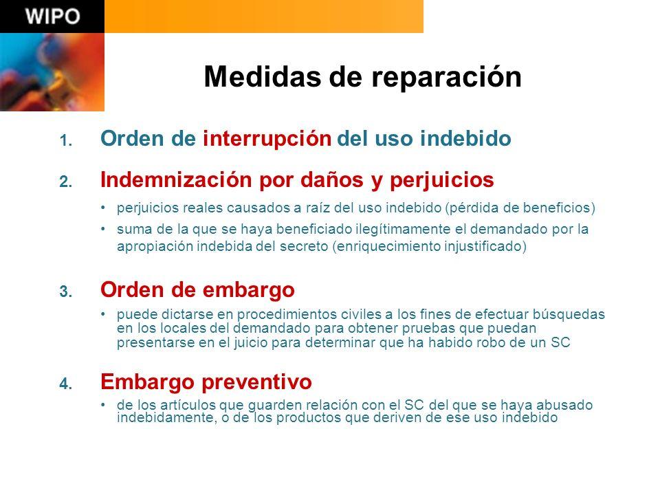 1. Orden de interrupción del uso indebido 2.